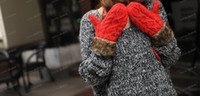 Wholesale LLFA3880 Korea Rope Gloves Woven Cotton Winter Thicken Gloves Men Women Mittens