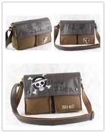 Wholesale Anime Attack on Titan Leather Canvas Shoulder Bag Messenger Bag style