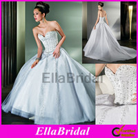 Ball Gown Reference Images Sweetheart 2014 Stylish Ball Gown White Tulle Delicate Crystal Beaded Strapless Sweetheart Bridal Wedding Dresses Dress Gown Demetrios Ilissa Style 521