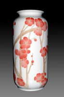 Wholesale under glazed porcelain hand drawing vase plum blossom Item No B