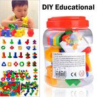Wholesale pcsNuts amp Bolts Building Blocks Toys Plastic Creative DIY Educational Kit for Kids Children