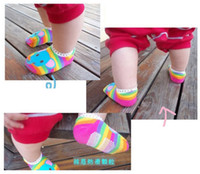 0-6Mos bee room - 2014 Newest Anti slip Baby Socks Foot cover Boat socks Infant room socks Baby Ankle socks Socks Bee animal socks stocking YFF