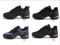 Wholesale Women Sports Shoes Fashion Canvas shoes Fitness Shoes Upper Modern Jazz Hip Hop Sneakers Dance Shoes