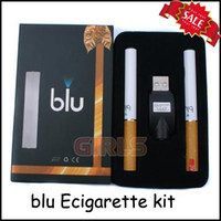 Wholesale Blu Kits Blu e cig Combination Suit Electronic Cigarettes with BLU Rechargeable Battery Disposable Cartridges Mini USB Charger Gift box