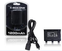xbox one Charging Cable  1200 mAh Battery Kit for Microsoft XBOX ONE Rechargeable with USB Charging Cable Retail Package free shipping