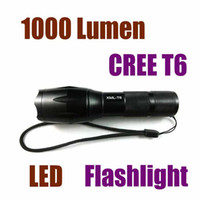 Wholesale New Arrival Portable Lumen LED Flashlight Cree XML XM L T6 Torch Camping Equipment Flashlight Waterproof Free Ship seven eleven