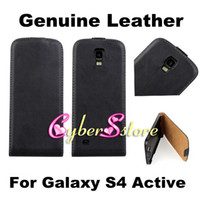 galaxy s4 active - High Quality Flip Real Genuine Verticle Up and Down Open Leather Case Cover For Samsung Galaxy S4 Active I9295