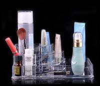 venda por atacado acrylic makeup case-EU Stock Acrílico Cristal Cosméticos Organizer Makeup Case Holder Storage Box Beauty Caso SF -1118 Frete Grátis