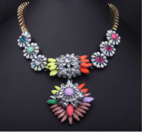 Wholesale natural coral necklace beautiful sweaters for Women Luxury Rainbow Collar Necklace Fashion Lady Statement necklace T13120504