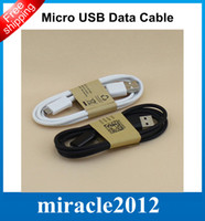 Wholesale 1M ft Micro USB Data Charger Cable for Galaxy S3 S4 Note Charging Adapter Sync Cords for Samsung HTC