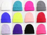 acrylic beanie neon - 12 Unisex Men Women Solid Color Warm Cuff Plain Acrylic Knit Ski Cuff Beanie Skull Hat Beany Neon