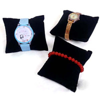 Jewelry Stand Bracelet Velvet Watch Display Stand Black Velvet Pillow Jewelry Bracelets Bangle Displays Stand Small Pillow Display Jewelry Stand 20PCS LOT Free Shipping