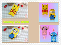 Silicone ace buy - 3D Stitch Yellow Bear Minion Silicon Case Cover for Samsung Galaxy Ace S5830 retail free china air mail