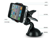 Black Plastic For Apple iPhone Universal Windshield & Dashboard Car Mount Cradle Holder for iPhone 5S 5C 5 4S 4 3GS, Samsung Galaxy Note 3 Note 2 S4 S3 Mega retail pakcing
