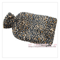 Wholesale PC Coral fleece leopard print rubber hot water bottle outerwear gowns water charge explosion proof l