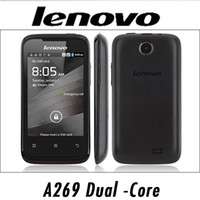 Wholesale Lenovo A269 A269i Android Smart Phone MTK6572 Dual Core GHZ G With Inch Capactive Touch Screen Cell Phone WEIL