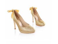 Women Pumps Spring and Fall 2014 Sexy high heel shoes for lady Fashion Gold Sparkling High Heel Shoes Nice Woman Pumps Evening Party Prom Dress Shoes