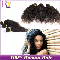 Wholesale RY hair high quality same mixed length peruvian hair kinky curly hair weaves human hair weave wavy hair extension