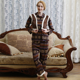 Wholesale New Arrival Fashion Autumn and winter women pajamas sleepwear super soft for Women pajamas women s clothing home National style