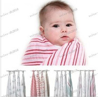 Wholesale LLFA3890 Hot Sale New Born Baby Muslin Swaddle Blankets