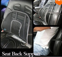 Waist Cushion Black Elastic steel wire frame and nylon nets Car Seat Chair Massage Back Lumbar Ice Silk Waist Cushion Cool Massage Seat Back Support For Four Seasons Ventilate Cushion Pad Black