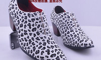 Wholesale leopard print leather shoes men Shoes wedding shoes bridegroom Shoes dress shoes