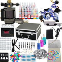2 Guns Beginner Kit brand new Starter Tattoo Machine Guns Inks Grips Needles Power Kit Kits Set Equipment Supplies (USA Warehouse)