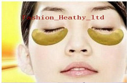 Wholesale 100pairs Gold Crystal Collagen Eyes Mask Gold Collagen Eyes Masks Golden Anti wrinkle Eyes Mask Whitening Moisturing Removes Puffiness
