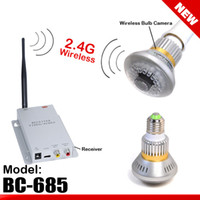 Wholesale lt gt G Wireless Bulb CCTV Security AV Camera Set