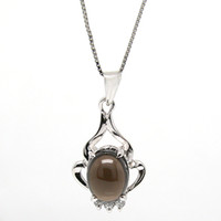 Pendant Necklaces Natural crystal / semi-precious stones Smoky quartz Flammable volcano genuine natural citrine pendant necklace female short paragraph clavicle 925 sterling silver necklace jewelry jewelry