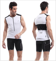 Wholesale White Ultra Breathable Sleeveless Cycling Jerseys Bike Bicycle Clothing Wearproof Fabric Reflective Strip for Safety Colors Veobike