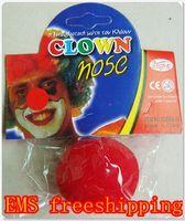 Halloween clown nose - 1500pcs Clown Nose Red Sponge Ball Halloween Props Costomes Show Lovely Clown Nose EMS freeship