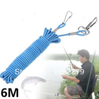 Cheap Free shiping!234-inch Metal Lobster Clasp Stretchy Fishing Lanyard Cable Rope Fish Rod Protector - Color Assorted HHF-117034