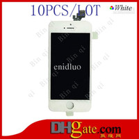 Cheap 10PCS LOT High Quality LCD Display Touch Screen With Digitizer Replacement For iPhone 5 Free DHL EMS