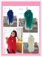 Wholesale Hot sale Plain Color Women Voile Scarf Shawl hijab muslim scarf cm Big Wrap