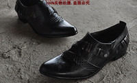 Wholesale Fashion black metal matching leather shoes men Shoes men wedding shoes bridegroom Shoes dress shoes