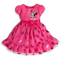 Wholesale lowest promotion Children girl s Summer child MINNIE short sleeve dress