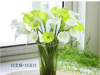 Wholesale Simulation PU Red White Color Flowers Calla Lily Bridal Wedding Bouquet Latex Real Touch Flower Bouquet L465