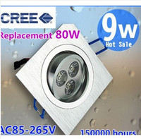 Wholesale Ultra Bright Cree W Led Modern LED downlight Light Square Led Recessed Lamp CE RoHS cree