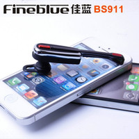 Cheap Fineblue BS911 Mini Wireless Stereo Bluetooth Headset Headphone Earphone For iPhone 5 S4 Note3 Mobile Phone Headphones Earphones Free DHL
