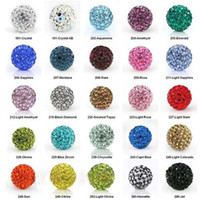Multi Colors loose shamballa beads - 10MM Disco Balls Clay Crystal Shamballa Beads Loose Beads DIY Pave Rhinestones Disco Balls Beads Mix Colors