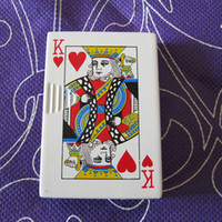 Wholesale 3pcs Flash Casino Poker R Heart King Card Slide Jet Lighter
