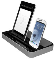 Wholesale IPEGA Charger Docking Station and Stereo Speaker For iPad ipad mini iPhone G G iTouch for Samsung S2 S3 S4 Note