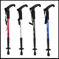 Trekking Poles Rubber 0.5 to 0.75 New Adjustable Anti-Shock Trekking Walk Stick Crutches Hiking Cane 4 Color Walking Pole