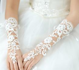 Wholesale 2015 Bridal Gloves About cm Luxury Lace Diamond Flower Glove Hollow Wedding Dress Accessories