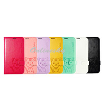 For Samsung Leather White Fashionable Leiers Domi Cat Flip Wallet PU Leather Purse card Case for Note3 ,N9000