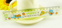 Wholesale 18cm With Wave Line Japan Korea Cartoon Pattern Plastic Straight Ruler Children Student Present Gift