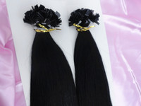 Brazilian Hair Black Straight New arrival fashion Flat tip hair extension #1 silky straight 100% unprocessed Indian virgin human hair 3pcs lot free shipping 18-28inches