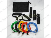 fitness resistance band - 11Pcs in Set Fitness Resistance Bands Exercise Tubes Practical Elastic Training Rope Yoga Pull Rope Pilates Workout Cordages MYY7880