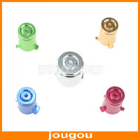 Wholesale Aluminum Metal ABXY And Guide Replacement Buttons For XBOX360 ONE Controller Free DHL FEDEX UPS Shipping